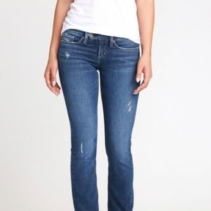 SILVER JEANS Tuesday Bootcut Faded Whisker Dark